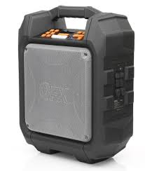 qfx pbx 7 outbacker portable speaker with fm radio walmart com