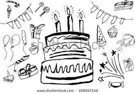 birthday stuff doodle birthday stuff stock vector 189057248