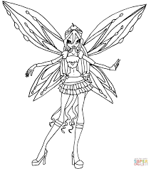 bloom winx club bloom coloring pages free coloring pages