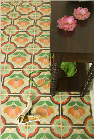 painted wood tiles by sally bennett mirth studio footprints on