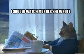 Murder She Wrote Meme - i should watch murder she wrote sophisticated cat quickmeme