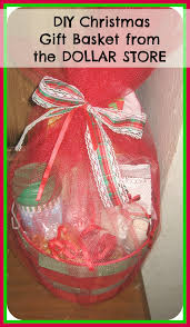 gift baskets for christmas diy how to make christmas gift basket from the dollar store easy