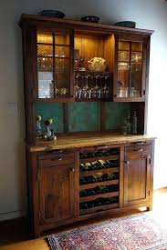 rustic sideboard with wine rack wine buffet hutch rustic sideboard