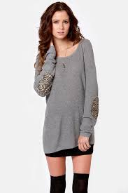Gold Sequin Cardigan Cute Grey Sweater Sequin Sweater Elbow Patch Sweater 52 00