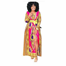 tribal dress women split maxi dresses traditional tribal print dashiki