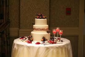 wedding cake palembang wedding cake table decor with chocolate covered fruits and