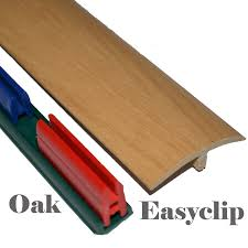 Laminate Flooring Threshold Trim Oak Laminated Threshold Strip Clip System 38mm X 90cm Multi Height