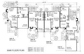 Multi Family House Plans Triplex Multi Family House Plans U0026 Multi Plex Home Floor Plans At