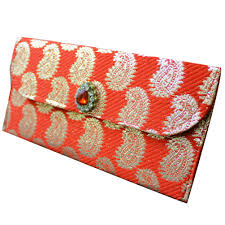 Brocade Home Decor by Decorative Envelope Brocade Fabric Hand Money Pouch Indian Crafted