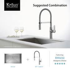 kraus kpf 1640ch chrome nola single lever flex commercial style