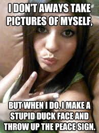 Peace Sign Meme - selfy stephy memes quickmeme