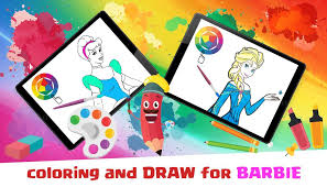 coloring barbie princess book android apps google play