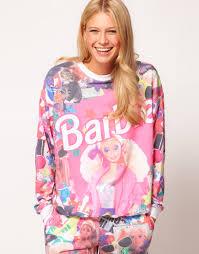 asos collection sweatshirt barbie print lyst
