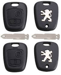 peugeot car logo peugeot diy repair kit replacement 2 button remote car key fob
