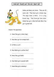 have got has got worksheet by nancyp