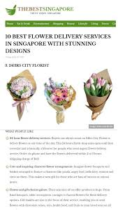 Best Flower Delivery Service Voted One Of The Best Florists In Singapore 24 Hrs City Florist