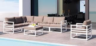 Aluminum Outdoor Patio Furniture Outdoor Patio White Aluminum Frame Sofa Set Furniture Sale In