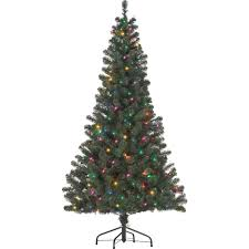starlite 6 ft pre lit canadian fir with multi colored lights
