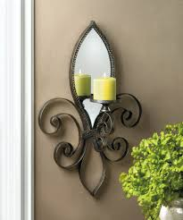 Iron Home Decor by Fleur De Lis Mirrored Wall Sconce Wholesale At Koehler Home Decor