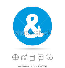 Wedding Invitation Symbols Ampersand Sign Icon Programming Logical Operator Stock Vector