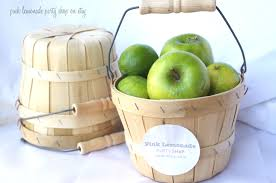 wooden party favors mini apple baskets set of 2 adorable birch wood baskets with
