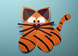 heart tiger craft for kids crafty morning