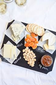 chalkboard cheese plate no cook summer appetizers pizza and chagne