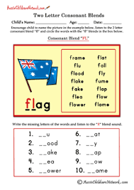 two letter blends worksheets english phonics pinterest