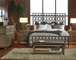 Iron Bedroom Furniture Legacy Classic 4 Piece Metalworks Crisscross Metal Bedroom Set In