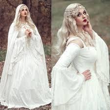 celtic wedding mzych04 vintage renaissance white wedding dress celtic