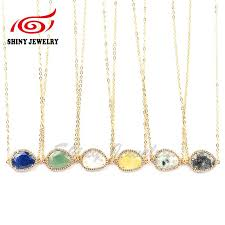 diy necklace wholesale images Crystal gemstone necklace 15 24mm wholesale cz micro pave vacumm jpg