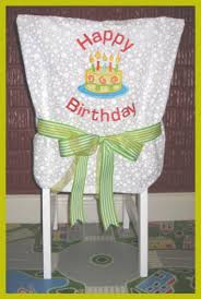 birthday chair cover happy birthday chair cover totally stitchin
