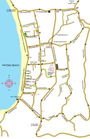 Phuket Thailand Map Patong Beach Map From Phuket Thailand