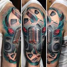 half sleeve music sleeve tattoos golfian com