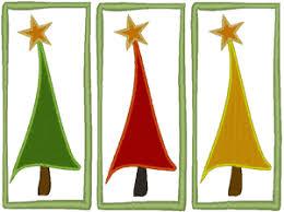 modern christmas christmas trees embroidery design