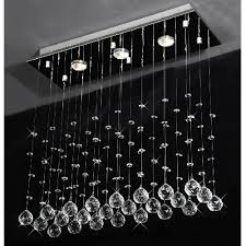 Crystal Drops For Chandeliers Drops Of Rain Crystal Chandelier Modern Raindrop Design Lighting