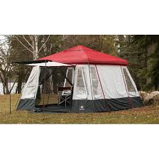 Gazebo Tent by Wenger 8 Person Edelweiss Gazebo Tent Red Gray 81400