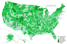 At T United States Coverage Map by Which Cities Get The Most Sleep The Jawbone Blog