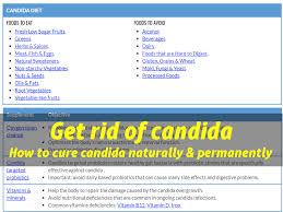 how to get rid of candida cure candida naturally and permanently