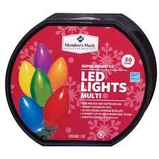 c9 led christmas lights members bright led christmas lights multi colored 50