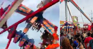 theme park horror as one dead and seven hurt when ride throws
