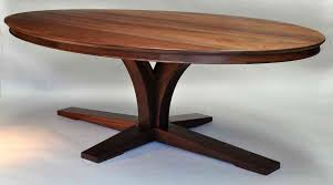 antique oval walnut dining table retro spacious furniture solid