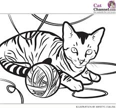 picture kitty cat coloring free download