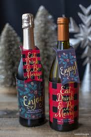 wine bottle wraps printable christmas wine bottle labels lia griffith
