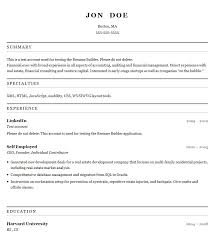 sample resume builder 18 resume formats examples and free builder