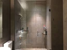Shower Head In Ceiling by Contemporary 3 4 Bathroom With Handheld Shower Head U0026 High Ceiling