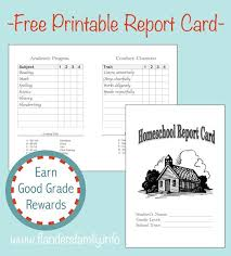 report card template pdf home school report cards flanders family homelife
