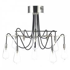 Nickel Ceiling Light Decorative Nickel Semi Flush Ceiling Light With Glass Bulb Shades