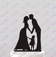 wedding cake toppers wedding cake topper silhouette groom and with
