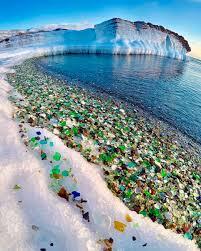 beach of glass broken glass beach at ussuri bay russia turns coast into stunning